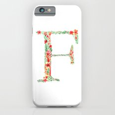 Floral Monogram Letter F iPhone 6 Slim Case