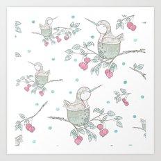 Hummingbird's Garden: Home Art Print