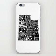 Typographic Utah iPhone & iPod Skin