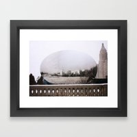 Snowy Bean Framed Art Print