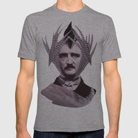 EDGAR ALLAN POE Mens Fitted Tee Athletic Grey SMALL