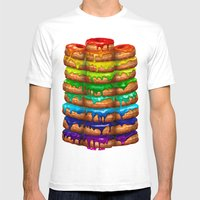 Donuts I 'Sweet Rainbow' Mens Fitted Tee White SMALL