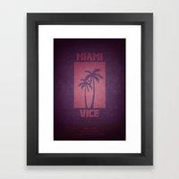 Miami Vice Framed Art Print