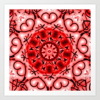 Red Heart Valentine Mand… Art Print