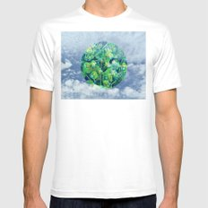 Little Planet #01 SMALL White Mens Fitted Tee