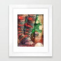 Holiday Greetings  Framed Art Print