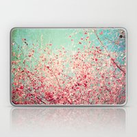Blue Autumn, Pink Leafs … Laptop & iPad Skin