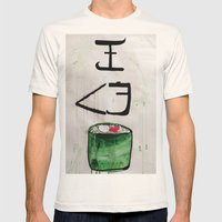 I love sushi !  Mens Fitted Tee Natural SMALL