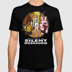 Silent Mushroom Mens Fitted Tee Black SMALL