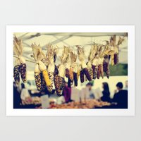 Indian Corn at the Farmers Market Art Print