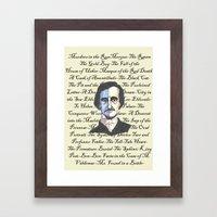 Poe Titles Framed Art Print