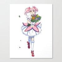 Madoka - Flower Set (Puella Magi Madoka Magica) Canvas Print