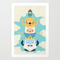 adventure Art Prints featuring Adventure Totem by Daniel Mackey