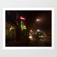 Neon Nights Art Print