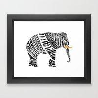 Endangered elephant Framed Art Print