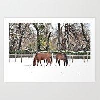 Colts Neck Snow Art Print