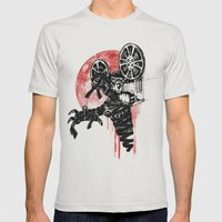 A Film By The Mummy Mens Fitted Tee Silver SMALL
