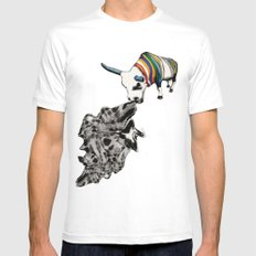 COW Eating a Dress Mens Fitted Tee SMALL White