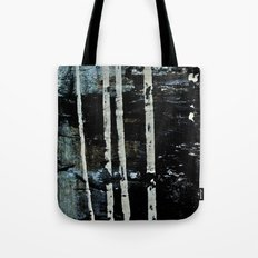 Birch Forrest At Night Tote Bag