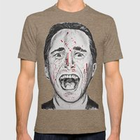 American Psycho Mens Fitted Tee Tri-Coffee SMALL