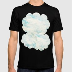 Somewhere   Beautiful Fluffy Clouds  Mens Fitted Tee SMALL Black