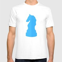 Blue Chess Piece - Knigh… Mens Fitted Tee White SMALL