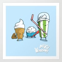 Milky Warriors Art Print