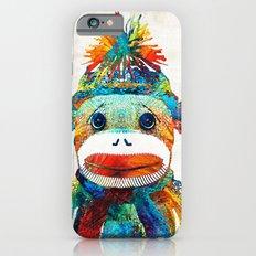 Sock Monkey Art - Your New Best Friend - By Sharon Cummings iPhone 6 Slim Case