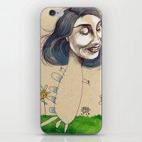 DINOSAUR GIRL iPhone & iPod Skin