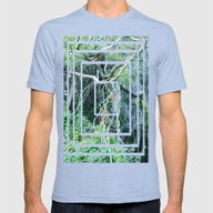 Tangled Trees  Mens Fitted Tee Tri-Blue SMALL