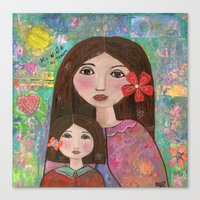 Mom and Daughter  Canvas Print