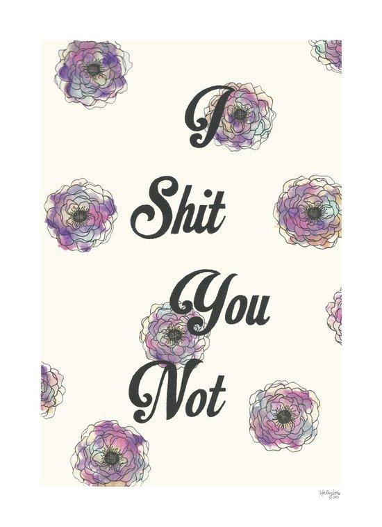 I Shit You Not Art Print