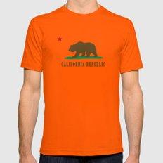 California Republic Mens Fitted Tee Orange SMALL