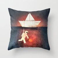 Ocean Diver Throw Pillow
