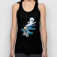 Where do friendly ghosts come from? Unisex Tank Top