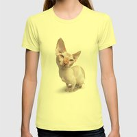 Baldy Womens Fitted Tee Lemon SMALL