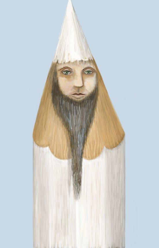 Pencil Head Art Print