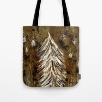 Dawn In A Burning Forest Tote Bag