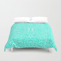 Radiate (Mint) Duvet Cover