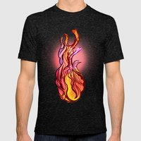 Heart Mens Fitted Tee Tri-Black SMALL