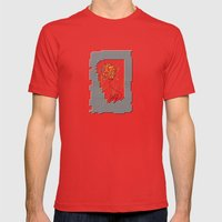 joy Mens Fitted Tee Red SMALL