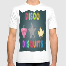 Disco Biscuits SMALL White Mens Fitted Tee