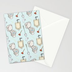 Bathroom Pattern Stationery Cards