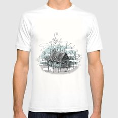 DEEP IN THE HEART OF THE FOREST White Mens Fitted Tee SMALL