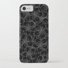 Cherry Blossom Black on White - In Memory of Mackenzie Slim Case iPhone 7