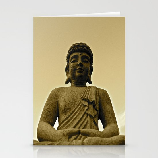 Buddha Prays Stationery Card