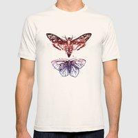 Moths Mens Fitted Tee Natural SMALL