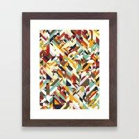 Native Geometric Framed Art Print
