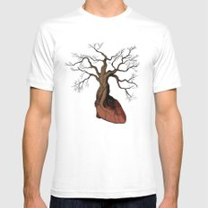 The Love Root White SMALL Mens Fitted Tee