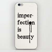 Imperfection is Beauty iPhone & iPod Skin